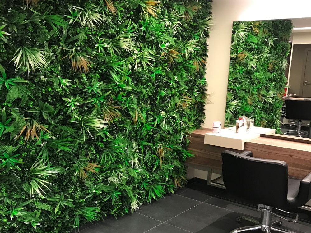 Kunsthaag vegetatie Jungle wit varen op kapper