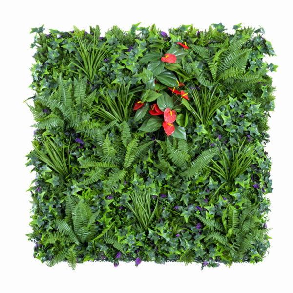 Vegetatie Anthurium plantenwand