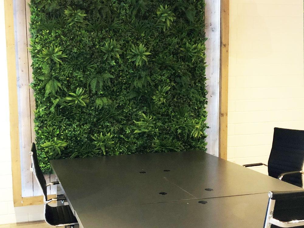 Vegetatie Jungle kantoor plantenwand
