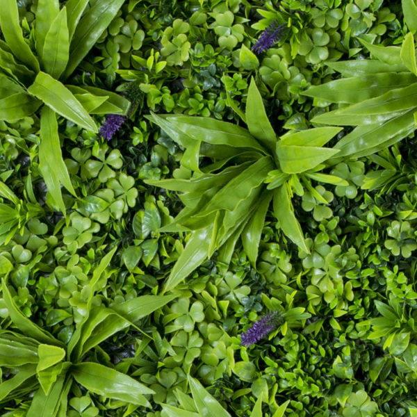 Kunsthaag Vegetatie sedum flower Plantenwand 100x100cm close-up