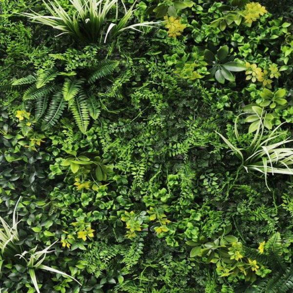 Vegetatie fijn gevarieerd Plantenwand_detail