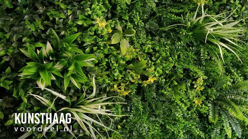 Kunstplanten wand uit midden segment
